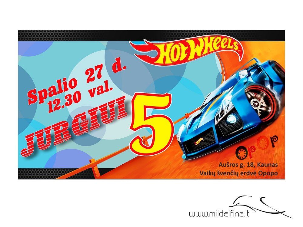 "Kvietimas ""Hot wheels"""
